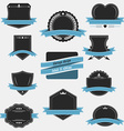 Vintage labels and ribbons Retro style set design vector image vector image