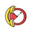 watch time with telephone service vector image vector image