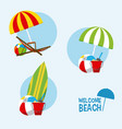 welcome to the beach vector image