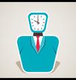 clock face of businessmen vector image