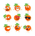 oranges - isolated cartoon emoticons vector image