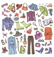 Spring fashionColored Womens wear set vector image