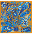 acrylic painting flower ethnic design vector image vector image