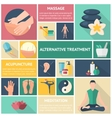 Acupuncture Long Shadow Icon Set vector image