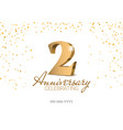 Anniversary 2 gold 3d numbers