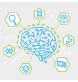 Artificial Intelligence Communication Functions vector image