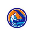 Auto Mechanic Car Repair Circle Retro vector image vector image