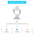 award competitive cup edge prize business flow vector image vector image