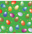 background with easter eggs vector image