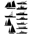 boat silhouettes vector image vector image