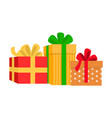 bright presents with different pattern vector image vector image