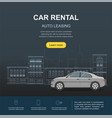 car rental and auto leasing banner vector image