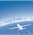 chicago skyline flight destination vector image