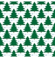 Christmas tree seamless pattern vector image