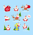 collection of christmas santa claus christmas se vector image vector image