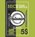 color vintage restaurant banner vector image vector image