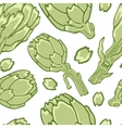 Colorful artichokes seamless pattern vector image vector image