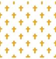 Cross pattern cartoon style vector image