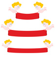 Cupid and red Ribbon Set Ribbon varying length vector image