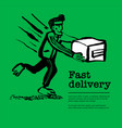delivery service concept web banner with delivery vector image