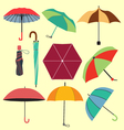 different fashion umbrellas in flat style vector image vector image