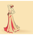 Fashionable woman card background vector image vector image
