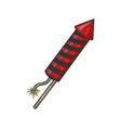fireworks rocket launch sketch vector image vector image