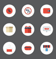 flat icons percentage present shopping and other vector image vector image