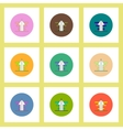 flat icons set of growing arrow concept on vector image vector image