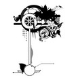 Floral silhouette design element