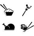 food icons isolated on white background vector image