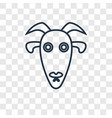 goat concept linear icon isolated on transparent vector image