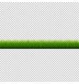 grass border transparent background vector image vector image