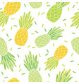 green yellow pineapples repeat pattern design vector image vector image