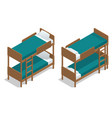 isometric wooden two-storeyed bed vector image