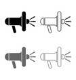 loudspeaker megaphone icon set grey black color vector image vector image