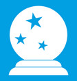 magic ball icon white vector image