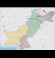 map of pakistan vector image