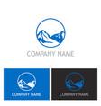 mountain nature logo vector image vector image