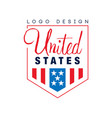 original logo design of united states emblem with vector image