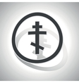 Orthodox cross sign sticker curved vector image