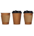 paper cup coffee set 3d vector image vector image