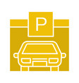 parking place glyph color icon vector image