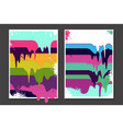 posters set with oil paint splashes graffiti vector image vector image