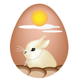 Rabbit Painted on Easter Eggs vector image vector image