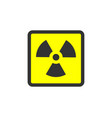 radiation icon warning radioactive sign danger vector image