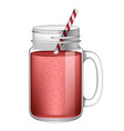 red smoothie mockup realistic style vector image