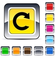 reload square button vector image