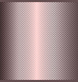 rose gold perforated metal texture background vector image vector image