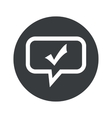 Round tick mark dialog icon vector image vector image